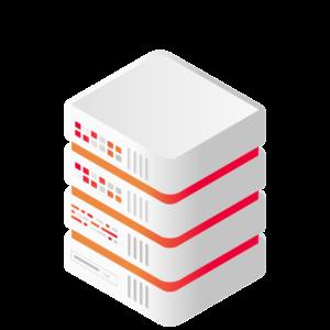 Four Level Tall Server Stack for Databases